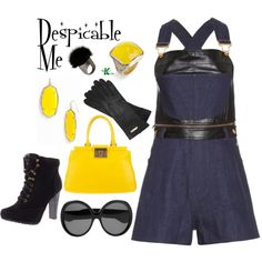 My creation inspired by the minions from Despicable Me.