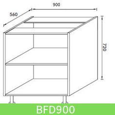 Base Unit 900 mm (Full Height Door)
