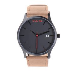Black Plated Stainless Steel Watch with Tan Leather Band - MVMT Watches