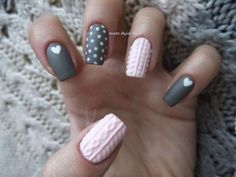 Uñas tejidas o cable knit nails | ActitudFEM