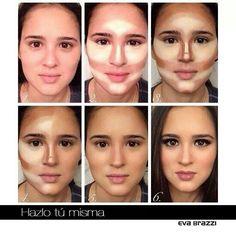 Correctores para que tu rostro se vea mas afilado
