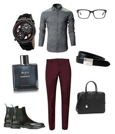 """""""Business Casual"""" by allonasada on Polyvore featuring Topman, Santoni, The British Belt Company, Joshua & Sons, Tom Ford, Yves Saint Laurent, Chanel, men's fashion and menswear"""
