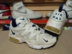 quality design e6a24 b65f9 VTG OG 1996 97 Nike Air Max Tailwind White Blue 9.5 Men s 104067 og 95 90 1  am1