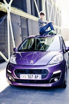 Peugeot 107 mauve..craquante