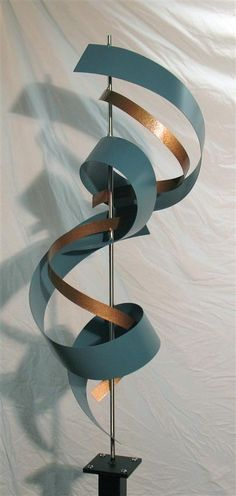 "Contemporary Metal Sculptures | Modern Metal Sculpture ""G72 Custom Teal"""