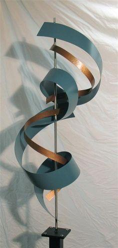 "Contemporary Metal Sculptures | Modern Metal Sculpture ""G72 Custom Teal"""