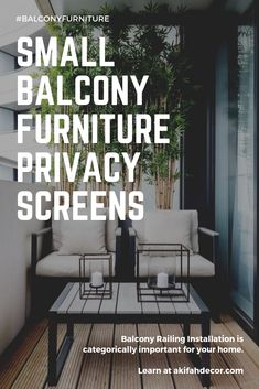 Best Small Balcony Furniture Inspiration – Decorating Ideas - Home Decor Ideas and Tips Small Balcony Furniture, Fire Escape, Balcony Railing, Privacy Screens, Furniture Inspiration, Home Decor, Style, Terrace, Balcony