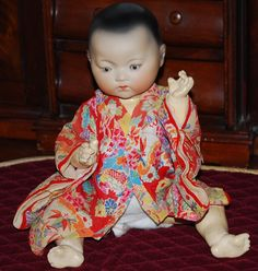 Armand Marseille #353 Oriental Asian Bisque Character Baby Doll from antiqueworldusa on Ruby Lane