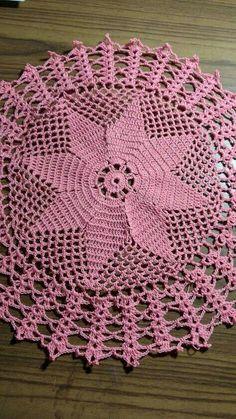 Crochet Carpet, Crochet Home, Love Crochet, Easy Crochet, Free Crochet Doily Patterns, Crochet Designs, Knitting Patterns, Thread Crochet, Filet Crochet
