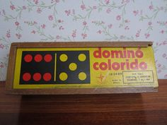 Vintage Dominó Colorido Estrela Made in Brazil Wooden Children's Toy Painted…