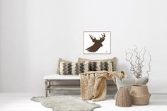 Deer Antlers Matte Print- Various Sizes Painted Antlers, Deer Antlers, Real Tree Camouflage, Leather Bracelets, Leather Cuffs, Star Art, Modern Farmhouse Decor, Metal Jewelry, Bullet Jewelry