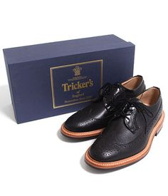 Selectism - Tricker's Wing-tip Scotch Grain Leather Shoes