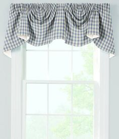 Cabin Check Lined Austrian Valance - Country Curtains®