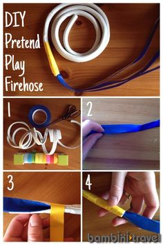 DIY firefighter hose | in our environment | Bambini Travel