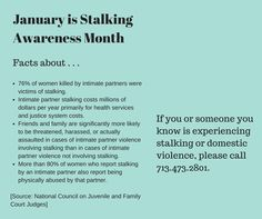 January is Stalking Awareness Month.