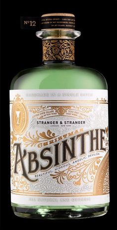Every year Stranger & Stranger sends out a stunning, limited edition custom designed bottle of liquor. This year, Absinthe made the cut, and the results are Whisky, Whiskey Bottle, Vodka Bottle, Alcohol Bottles, Stranger And Stranger, Packaging, Liqueur, Wine And Spirits, Bottle Design