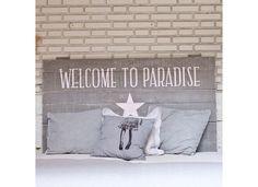 """Tête de lit déco en bois """"Paradise"""""""