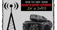 How To Get Your HAM Radio License In 7 Days. The HAM Radio license it seems is one of the biggest prepping mysteries. Communications will be very important Ham Radio License, Ham Radio Equipment, Ham Radio Antenna, Survival Shelter, Water Storage, Overnight Shipping, Energy Technology, Useful Life Hacks, Information Technology