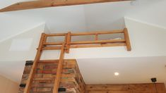 Climb up from the ladder to the lavatory where you can sleep in Kuressaare Family and Garden apartments, Estonia. Ladder, Apartments, Sleep, Interior Design, Bed, House, Furniture, Home Decor, Nest Design