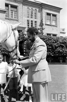 HIM Haile Selassie with his Majestic Horses in '1955' (1947-1948 E.C) Alfred Eisenstaedt photographs - Life Magazine Collection - Ethiopia Essay '55 hosted by Google Images.google.com/hosted/life