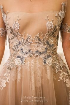 Adorable wedding dress with beautiful embroidery
