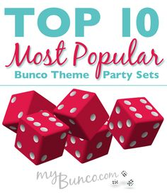 My Top 10 Most Popular Bunco Theme Party Sets Bunco Party Themes, Game Themes, Party Games, Party Ideas, Bunco Ideas, Themed Parties, Bunco Rules, Bunco Game, How To Play Bunco