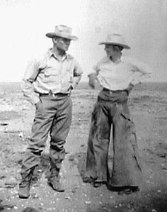 My Aunt Wilma and her husband Bill working cattle. She was the real deal...COWGIRL!