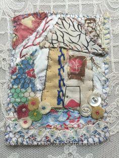textile brooch fiber art brooch hand by needletraditions on Etsy
