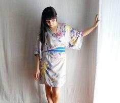 Grey kimono dress in satin  Obi belt included  by AliceCloset, €59.00