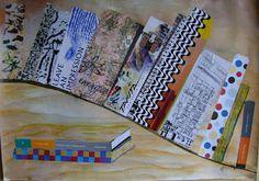 ARTES, DESARTES E DESASTRES CONTEMPORÂNEOS.   Estante de livros Colagens e acrílica sobre papel