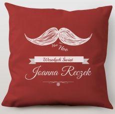Poduszka personalizowana Hoo Hoo! Wesołych Świąt! idealny na urodziny
