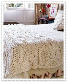"love these crochet ""blankets"""