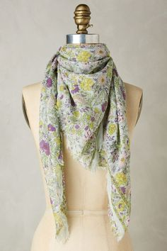 Add a hint of spring to any outfit with the Royal Gardens Square Scarf from Anthropologie.