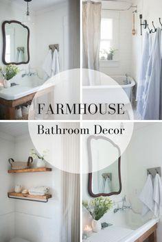 Farmhouse Bathroom Decor Makeover from Farmhouse on Boone