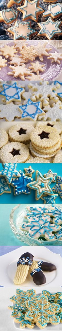 Make these delicious Hanukkah sugar cookies for your Hanukkah party.