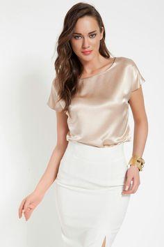 dresscodex gold top & skirt Www.lidyana.com