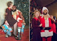Best Christmas photo!  1983 Christmas at the White House- Nancy Reagan and Mr. T!!