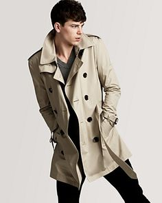 I love this trench.  Classic styling but cut shorter than most.  Look stylish without looking like Columbo (that's a 1970's TV reference for all you children)