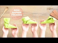 How to Fold an Elf Shoe, a Boot, or a Slipper - Napkin Folding Tutorial - Episode 5 - YouTube Christmas Napkin Folding, Paper Napkin Folding, Paper Napkins, Christmas Napkins, Folding Napkins, Christmas Shoes, Christmas Elf, Christmas Crafts, Christmas Ideas