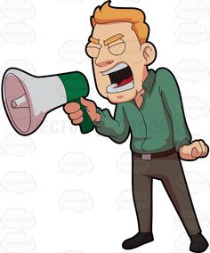 Image result for angry man shouting cartoon