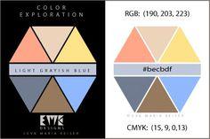 "Eva Maria Keiser Designs: Explore Color:  ""Light Grayish Blue"""
