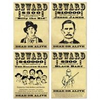 Add these Wanted Sign Cutouts to your Western party decorations. This set contains four different designs, including Billy the Kid and Jesse James. Western Party Supplies, Western Party Decorations, Western Parties, Wall Decorations, Cowboy Theme, Cowboy Party, Western Theme, Cowboy Room, Cowboy Birthday