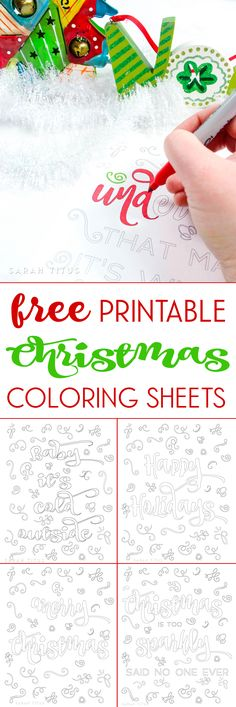 Do you like to color? Want some fun and interesting free printable Christmas coloring sheets? Here's 5 designs you're sure to love! Christmas Gifts For Adults, Christmas Crafts For Gifts, Diy Christmas Cards, Christmas Activities, Christmas Colors, Holiday Fun, Christmas Holidays, Christmas Ideas, Christmas Decorations