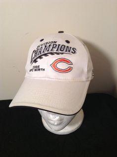 9dab2d2e9f0c0 EUC ORIGINAL 2005 CHICAGO BEARS DIVISION CHAMPIONS HAT White NFL NOT REMAKE   Reebok  ChicagoBears