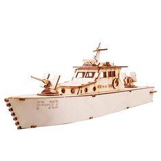 Wooden Model Ship Kits Junior Series- Scale models Coastal Guard Ship