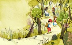 Hansel-Gretel picture book on Behance