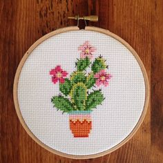 House of Miranda Cross Stitch & Embroidery — First thing I've made for myself in years. House of Miranda Cross Stitch & Embroidery — First thing I've made for myself in years. Cactus Cross Stitch, Simple Cross Stitch, Cross Stitch Flowers, Modern Cross Stitch Patterns, Cross Stitch Designs, Cross Stitching, Cross Stitch Embroidery, Hand Embroidery, Embroidery Patterns