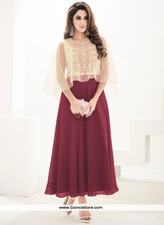 Imposing Faux Georgette Embroidered Work Party Wear Kurti