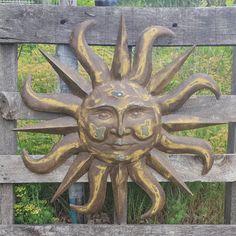Outdoor Wall Art Metal metal sun wall decor flower rustic garden art indoor outdoor patio