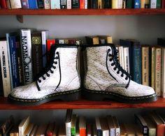Rare White Lace and Glitter Doc Marten Boots door ImminentMigration